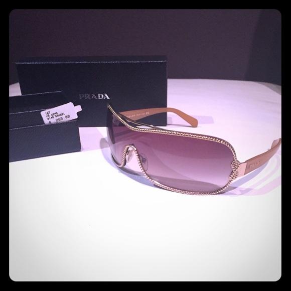 Prada Gold Velvet Rope Sunglasses - Made in Italy